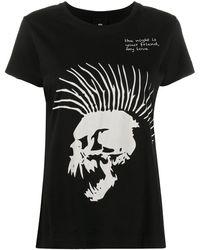 Thom Krom スカルプリント Tシャツ - ブラック