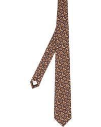 Burberry Cravatta con stampa - Marrone