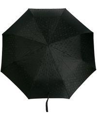 Alexander McQueen スタッズ スカル 折りたたみ傘 - ブラック
