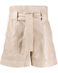 DROMe Shorts con cintura paperbag - Neutro