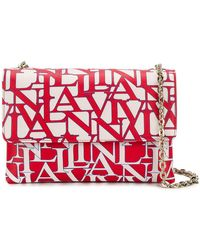 Lanvin - Printed Logo Shoulder Bag - Lyst