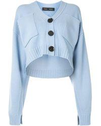 Proenza Schouler Cropped V-neck Cardigan - Blue