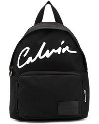 Calvin Klein Rucksack mit Print - Schwarz