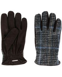 Lardini - Plaid Knitted Gloves - Lyst