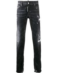 DSquared² - Worked Slim Jeans - Lyst