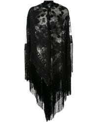 Dolce & Gabbana Fringed Lace Shawl - Black