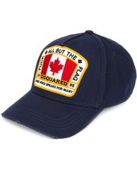 DSquared² Canadese Patch Baseball Cap - Blauw