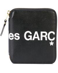 COMME DES GARÇONS PLAY ファスナー財布 - ブラック