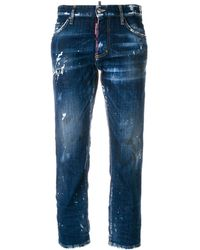 DSquared² - Distressed Hockney Jeans - Lyst
