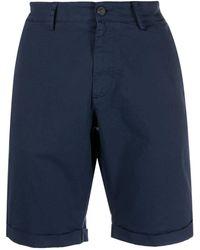 Trussardi Slim Chino Shorts - Blue