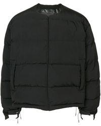 Fumito Ganryu ジップアップ パデッドジャケット - ブラック