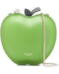 Kate Spade Picnic Apple ロゴ ショルダーバッグ - グリーン