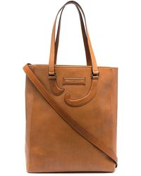 Societe Anonyme Leather Tote Bag - Brown
