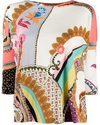 Etro Blusa con stampa paisley - Multicolore