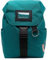 Acne Studios Grid-pattern Buckled Backpack - Blue