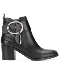 DKNY - Wrap Buckled Boots - Lyst