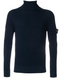 Stone Island - Ribbed Turtle Neck Jumper - Lyst