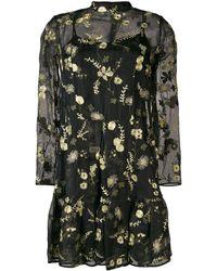 Erdem Cosima Layered Mini Dress - ブラック