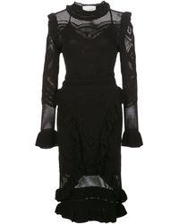 Alexis Sivan クロシェ ドレス - ブラック