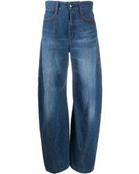 Chloé High-waisted Balloon Leg Jeans - Blue