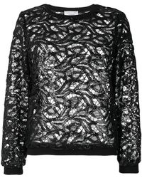 Si-jay - Sequined Lace Top - Lyst
