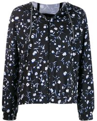 DKNY フローラル ジャケット - ブラック