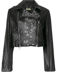 Versace Jeans Bikerjack Met Studs - Zwart