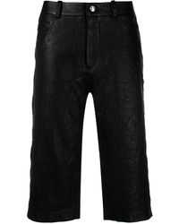 Zadig & Voltaire Straight Leather Shorts - Black