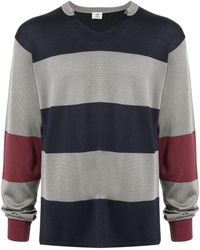 Kent & Curwen Vネック スウェットシャツ - グレー