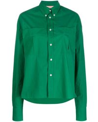Plan C Oversized Long-sleeve Shirt - Green