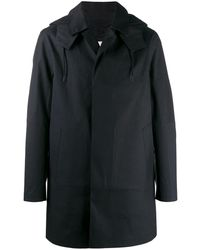 Mackintosh Manteau à fermeture dissimulée et capuche - Noir