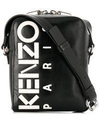 KENZO ロゴ ショルダーバッグ - ブラック