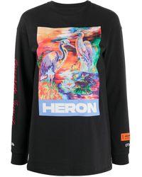 Heron Preston Sweatshirt mit Logo-Print - Schwarz