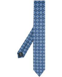Ermenegildo Zegna Stropdas Met Geometrische Print - Blauw
