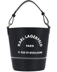 Karl Lagerfeld Rue Saint Guillaume Bucket Black