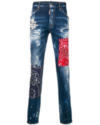 DSquared² - Cool Guy Bandana Jeans - Lyst