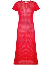 LHD メッシュ ドレス - レッド