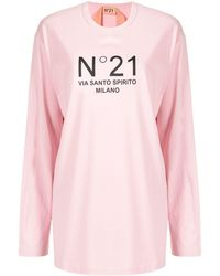 N°21 ロゴ ロングtシャツ - ピンク
