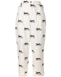 Aleksandr Manamïs - Cropped Hare Print Trousers - Lyst