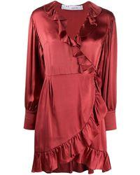 IRO Vestito a portafoglio - Rosso