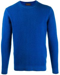 Altea Long-sleeve Fitted Jumper - Blue