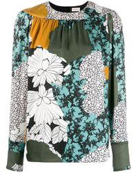 By Malene Birger Floral print blouse - Verde