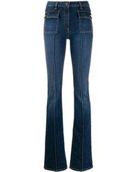 Elisabetta Franchi Creased Flared Jeans - Blue