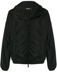 DSquared² Куртка С Капюшоном И Логотипом - Черный