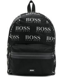 BOSS - Logo Print Backpack - Lyst