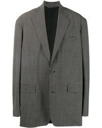 Balenciaga Клетчатый Пиджак Свободного Кроя - Черный
