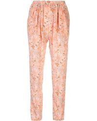 Stella McCartney Pantalon à fleurs - Rose