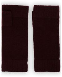 N.Peal Cashmere フィンガーレス グローブ - ブラック