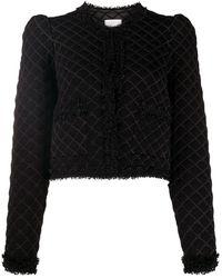 Sandro Veste en tweed à carreaux - Multicolore