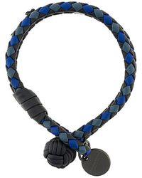 Bottega Veneta - Tourmaline Cobalt Blue Intrecciato Lamb Club Bracelet - Lyst